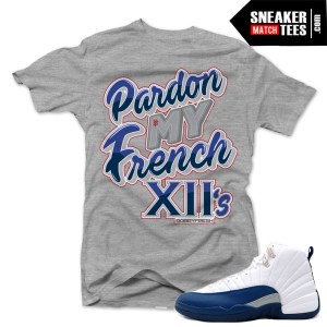 Match Sneaker Tees Jordan 12 French Blue Jordans
