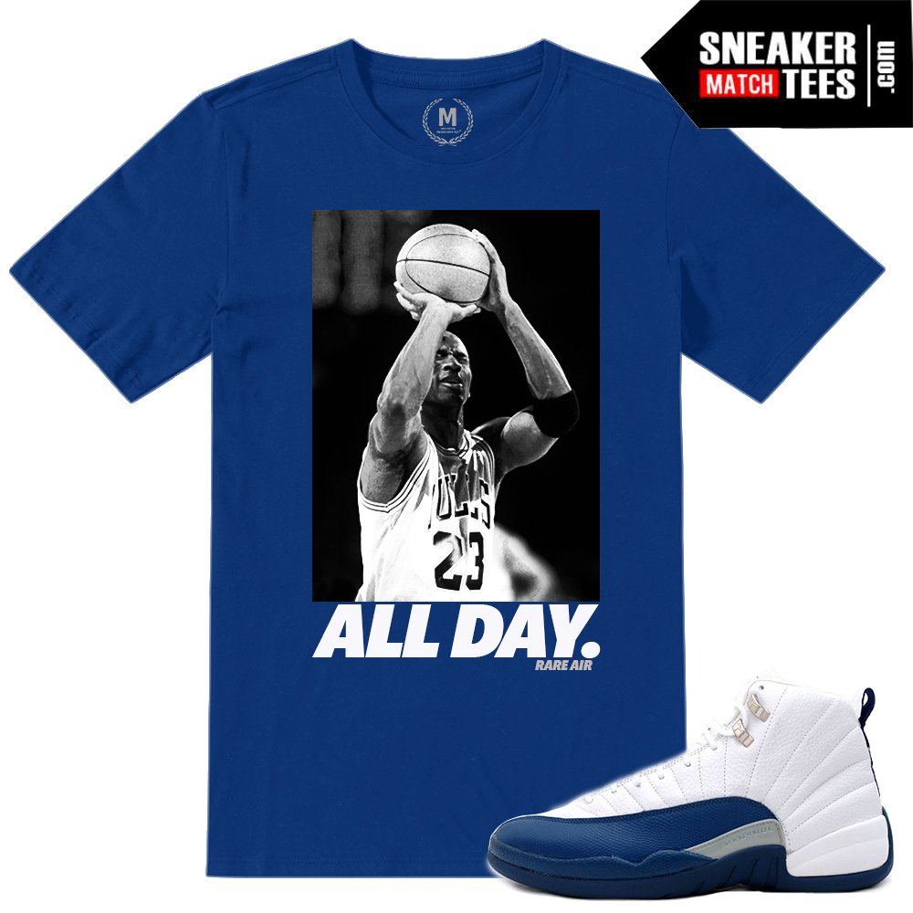 846905dcd4c03a Shirt Match French Blue Jordan 12s
