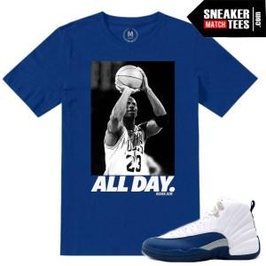 Shirt Match French Blue Jordan 12s