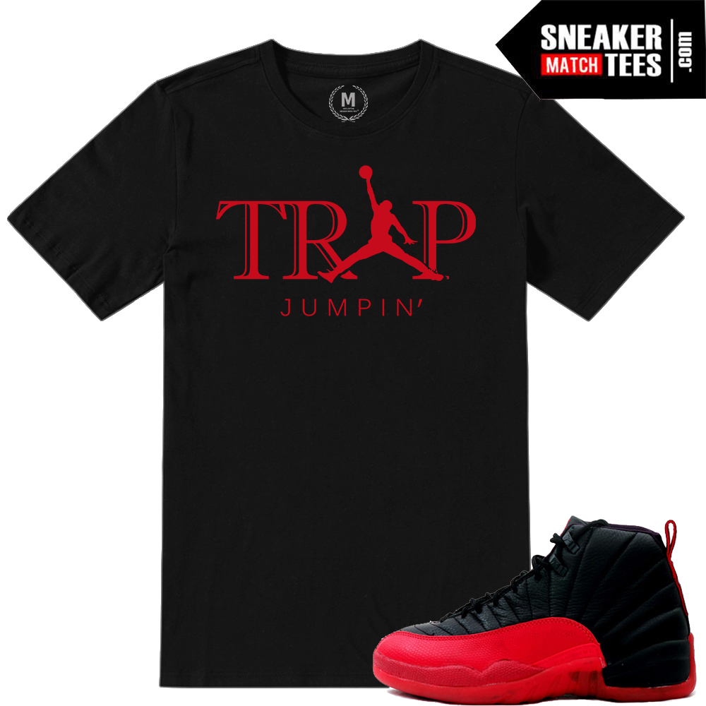 T shirt match Flu Game 12 Jordans