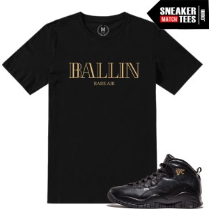 Tee Shirts match Jordan 10 NYC