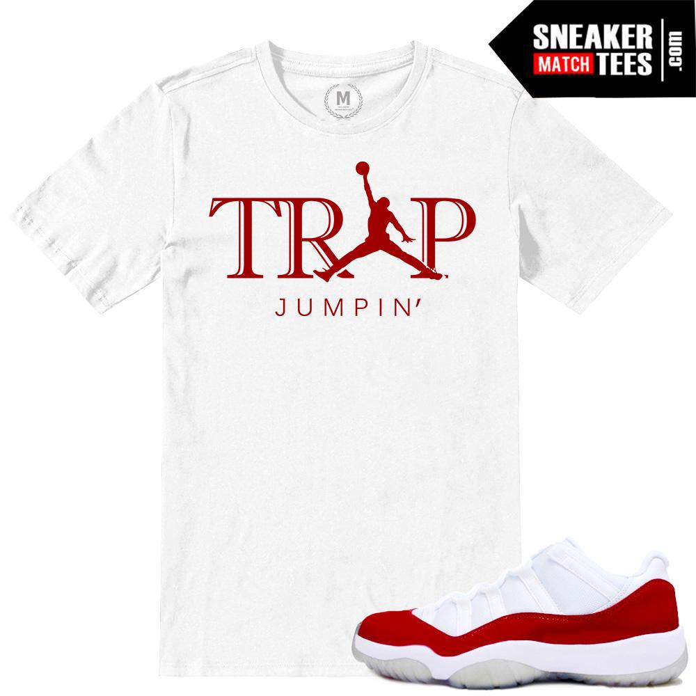5568c387bfd16d Air Jordan 11 Tshirts match Varsity Red low 11s