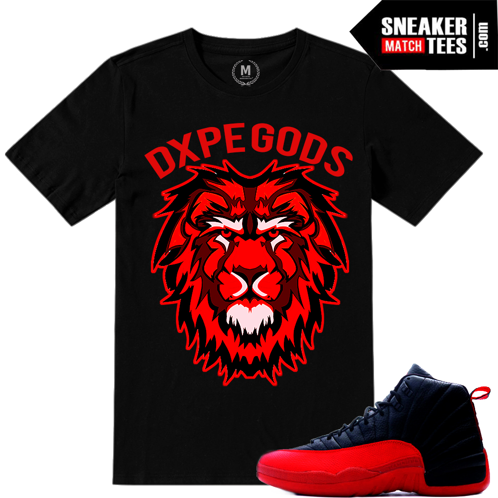 Air Jordan 12 Flu Game matching Sneaker tees