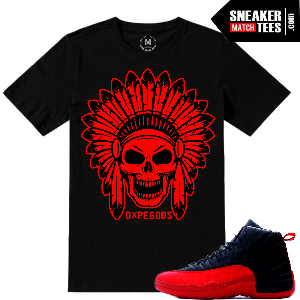 Air Jordan 12 Flu Game matching shirts
