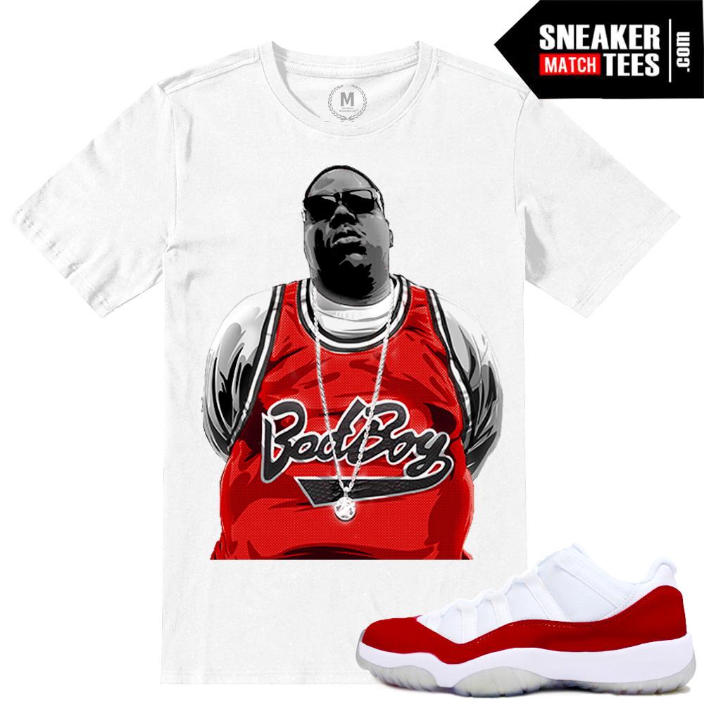 92b6035c884022 Cherry Red 11 Lows Match T shirts Jordan 11