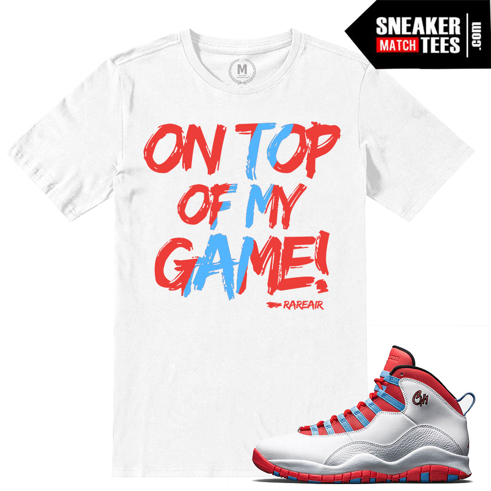 Chicago 10s Match T Shirt Sneaker Match Tees