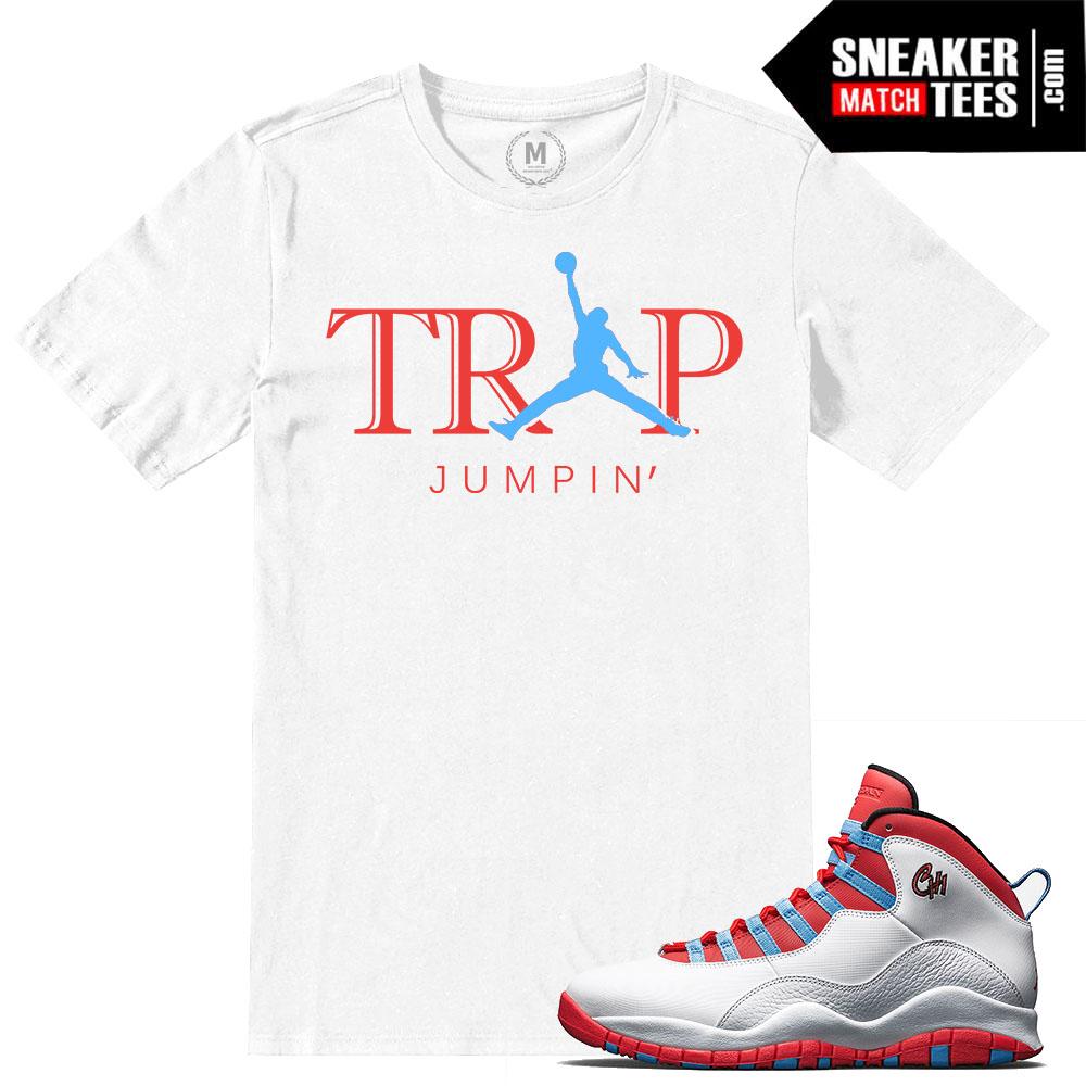 6821b9fb7a26 Chicago Flag Jordan 10 match t shirt