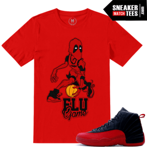 Flu Game 12 t shirts match Jordan
