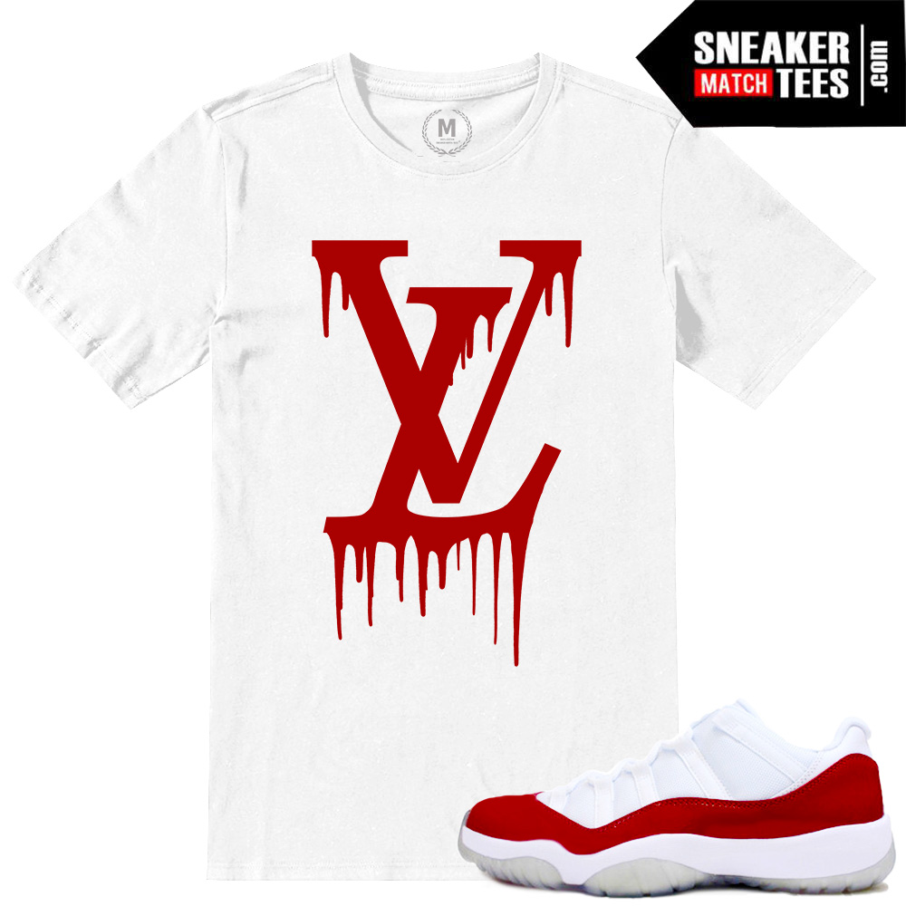 1723b343bee Match Air Jordan Retro 11 Low Red t shirts | Sneaker Match Tees