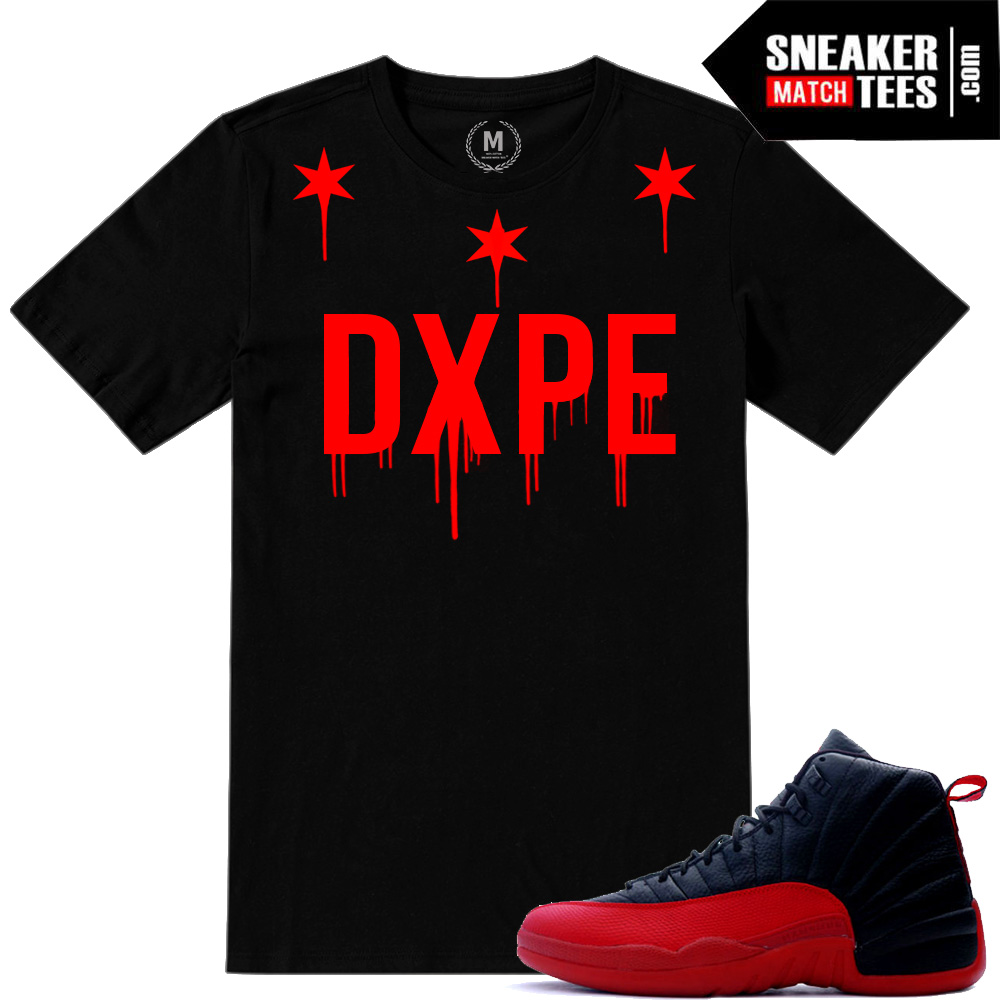 Match Jordan 12 Flu Game shirts