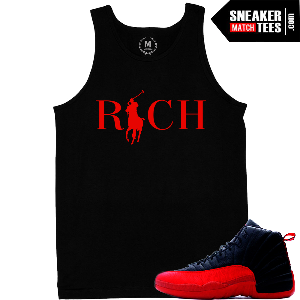 a1aa4761b6f Sneaker tank tops match Jordan 12 Flu Game | Sneaker Match Tees