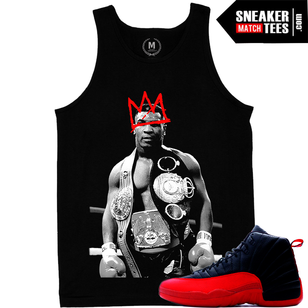 Sneaker tees match Flu Game 12s