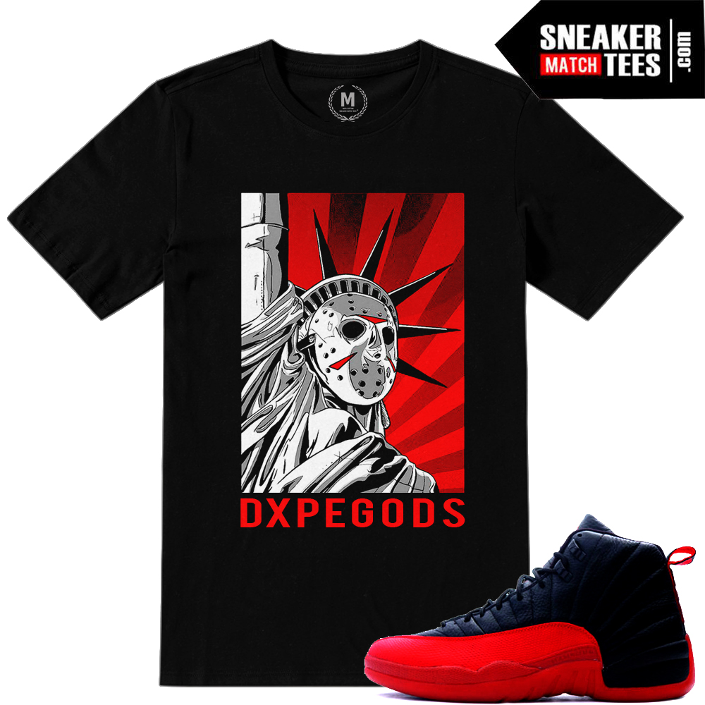 T shirts match Flu Game 12s sneakers