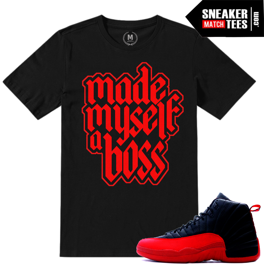 T shirts matching Flu Game 12 Jordans