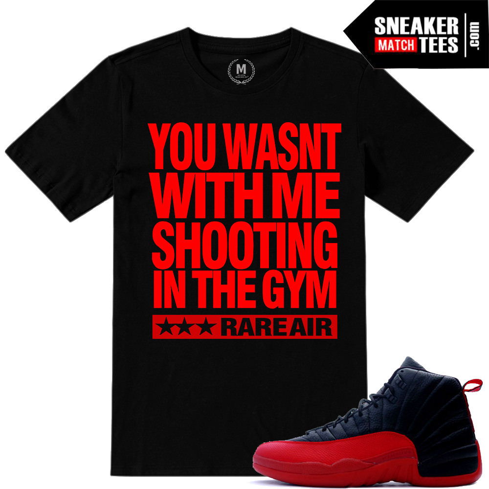 sneaker tees Flu Game 12s match