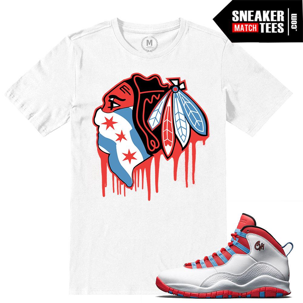 c6b22f1f3c78 T shirt match Chicago 10 Jordan Retros