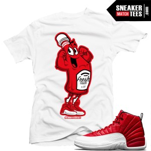 Air Jordan 12 Gym Red Sneaker shirts match