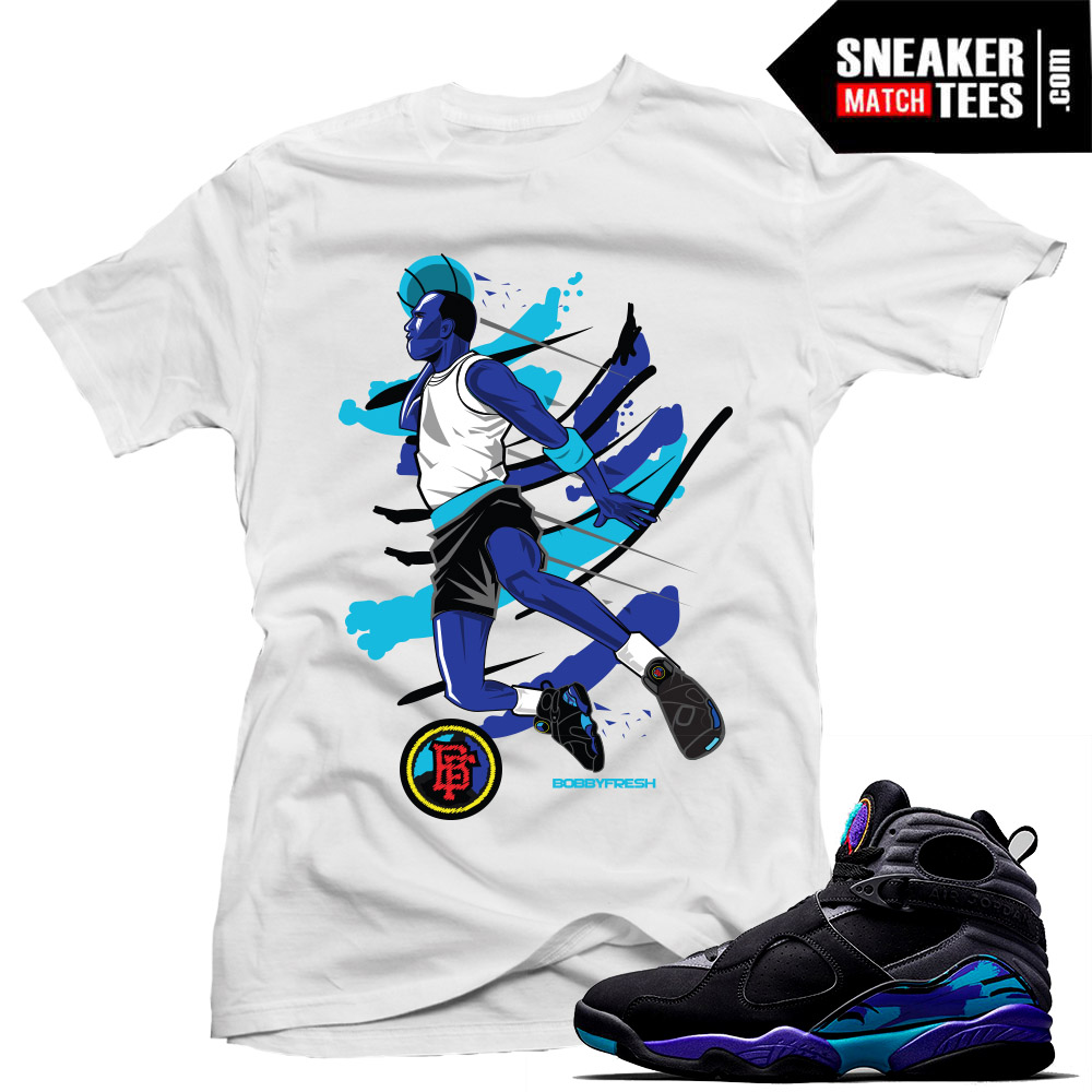 c196d50bd20 Aqua 8s Jordan Sneakers Match T shirts   Sneaker Match Tees