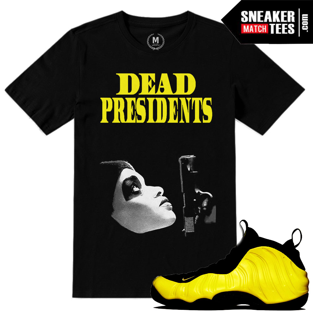 """a28d21571fa Wutang Foamposite shirts to match """"Dead Presidents"""" sneaker tees"""