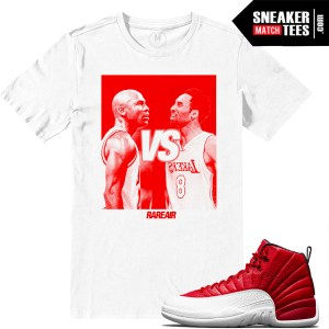 Gym Red Air Jordan 12 Match shirts