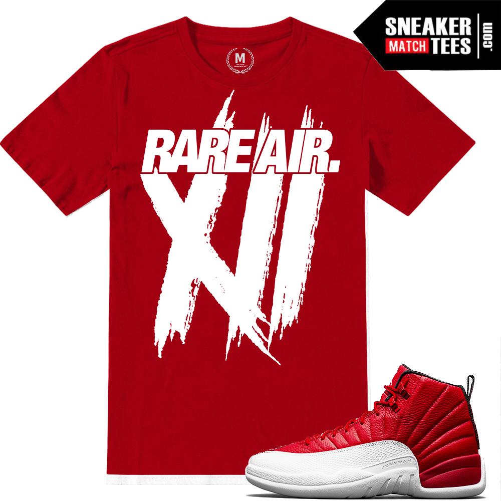 7c866a1c70f Match Gym Red 12 Jordan Retros | Rare Air XIIs | Red T shirt
