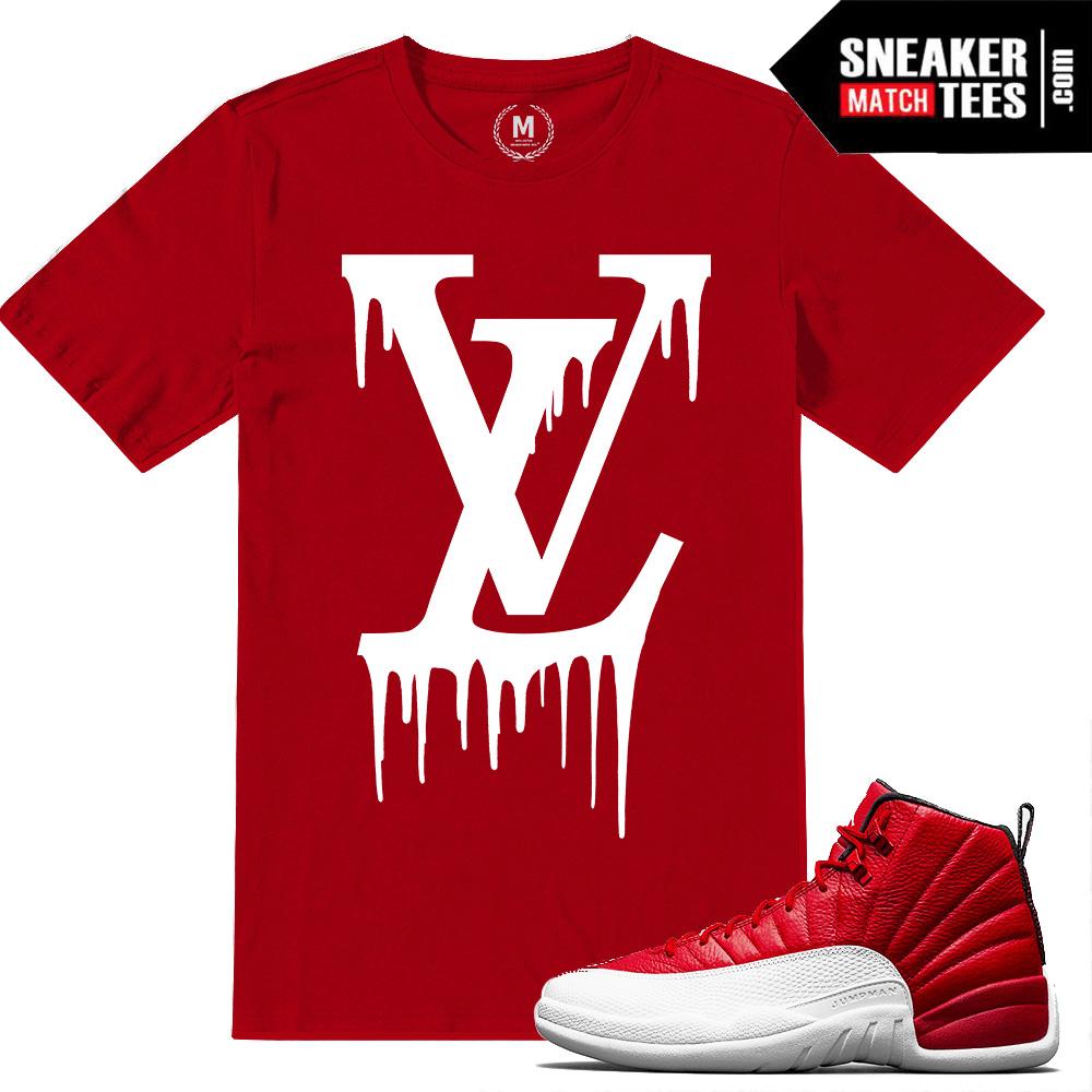 4e04b5a6b939 Jordan 12 Gym Red T shirts Match Retro Jordan