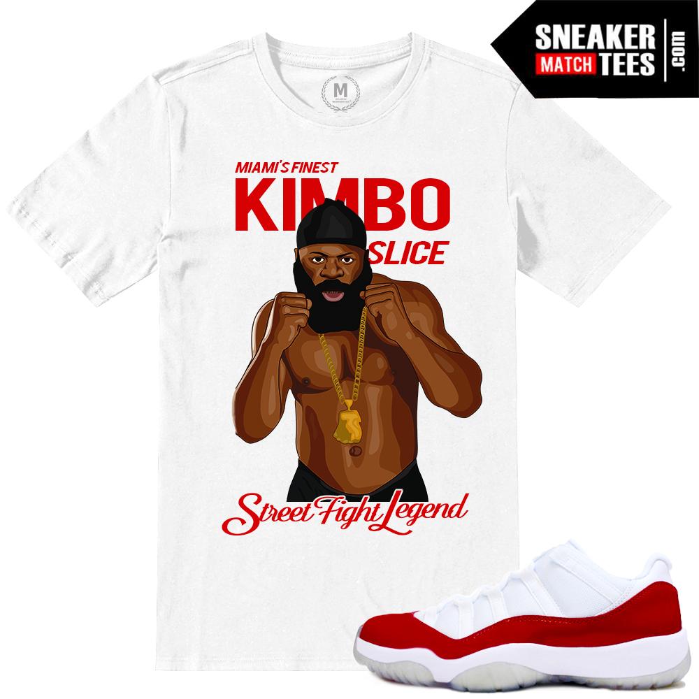4777da69326 Jordan Retro 11 low Varsity Red Match Sneaker tees shirt