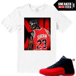 Jordan Retros Flu Game 12 Match Sneaker tees shirts