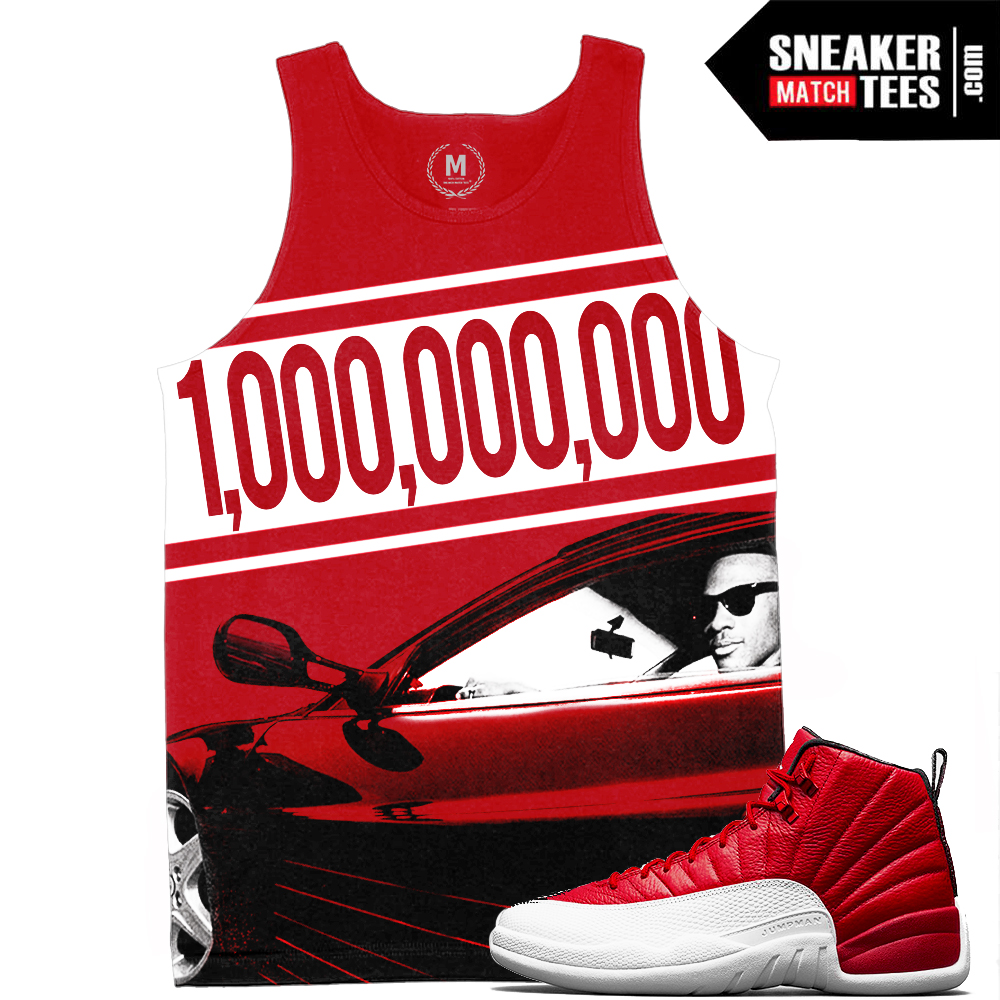 super popular bc75e ad1c8 Match Gym Red 12 Jordan Retros | Billionaire Club | Sublimated Tank Tee