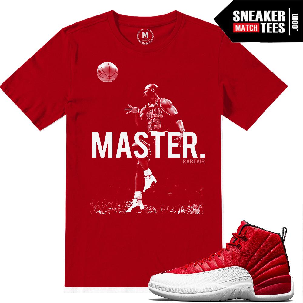 3184e0c205c3 Match Retro Jordan 12 Gym Red Shirt