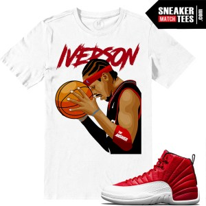 Match Sneaker tees Gym Red 12s