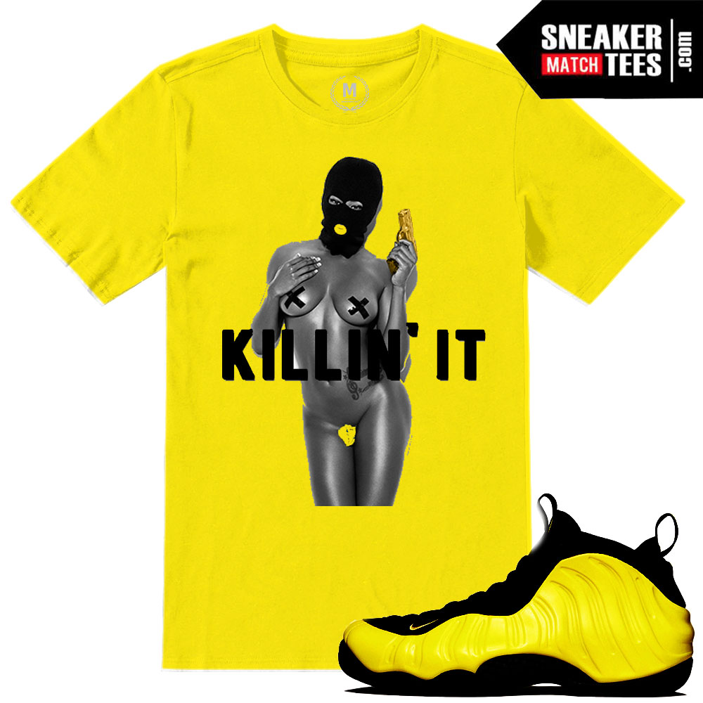 "db2ac9422be71 Wutang Foamposite shirts to match ""Killing it"" sneaker tees"