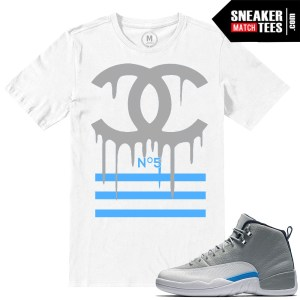 T shirts match Jordan Retro 12 Wolf Grey