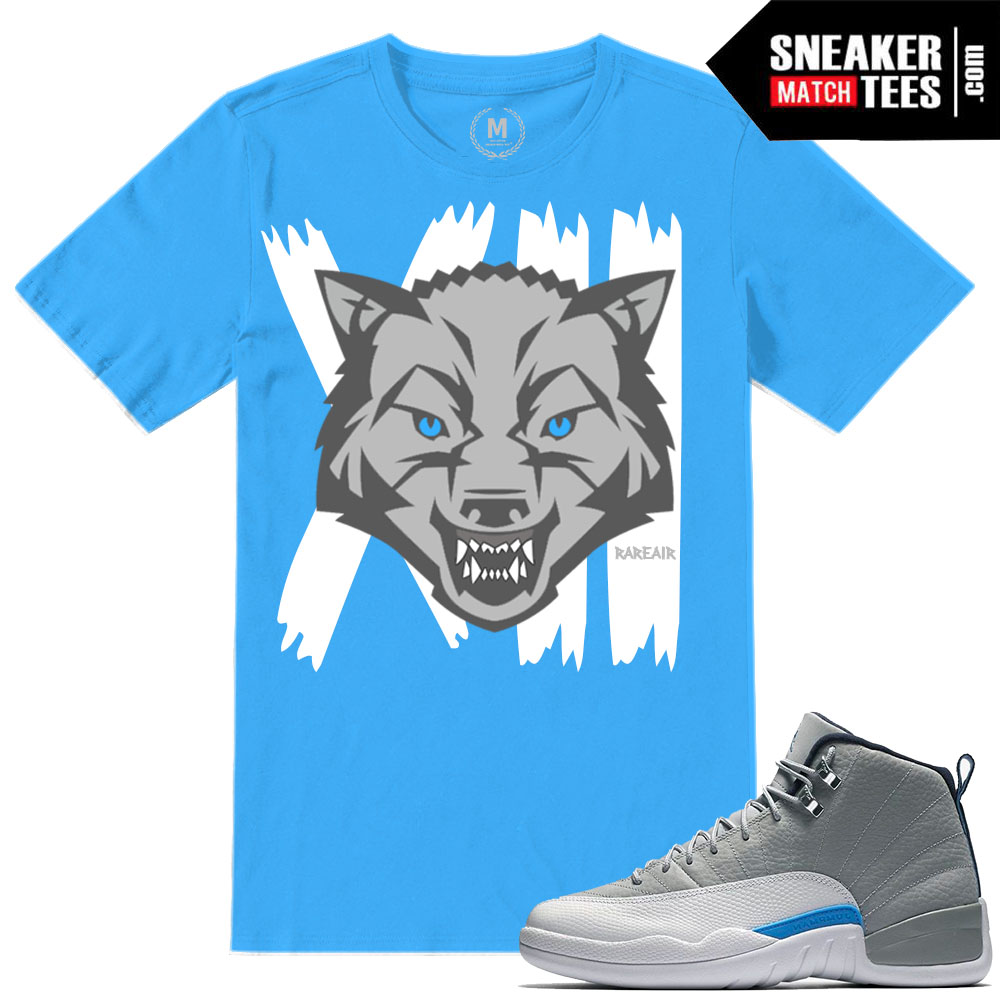 University Grey Jordan 12 tshirts match