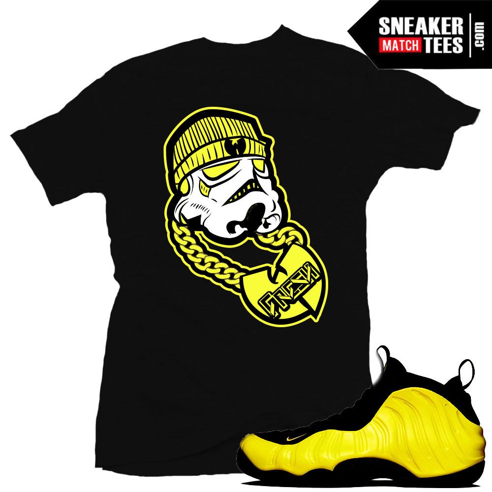 """0b0fe38f0753c Wutang Foamposite shirts to match """"Wu Fresh"""" sneaker tees shirt Black"""