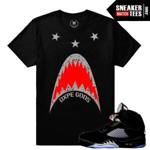 Black Metallic 5 Retros match Jordan t shirt