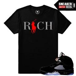 Black Metallic OG 5s matching shirts