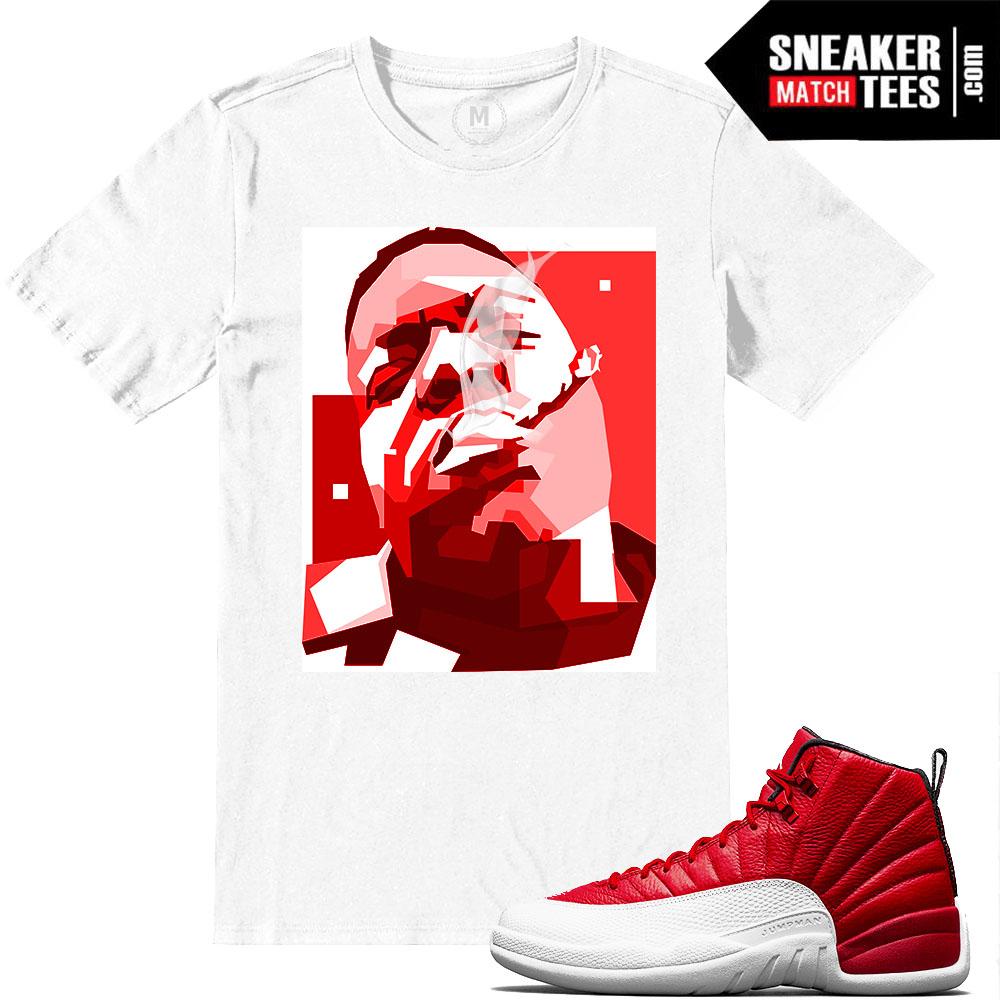 c8d1a398d2e11e Jordan 12 Gym Red T shirts Match Retro Jordan