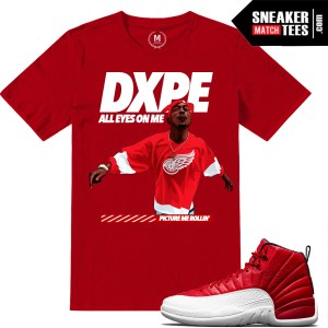 Gym Red 12s match Sneaker t shirts