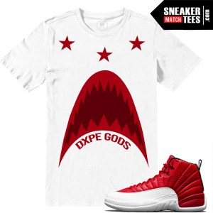 Retro Jordan 12 Gym Red Match Shirts
