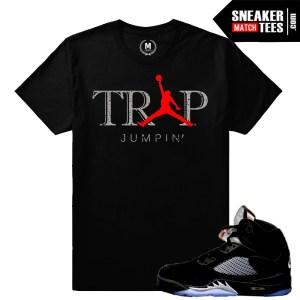Sneaker Shirt match Jordan 5 Black Metallic