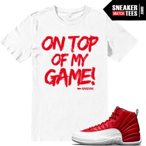 Sneaker shirts match Jordan 12 Gym Red