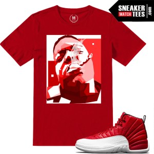 Sneaker tees Gym Red 12s Jordan