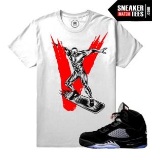 Sneaker tees match Jordan Retros 5 Metallic