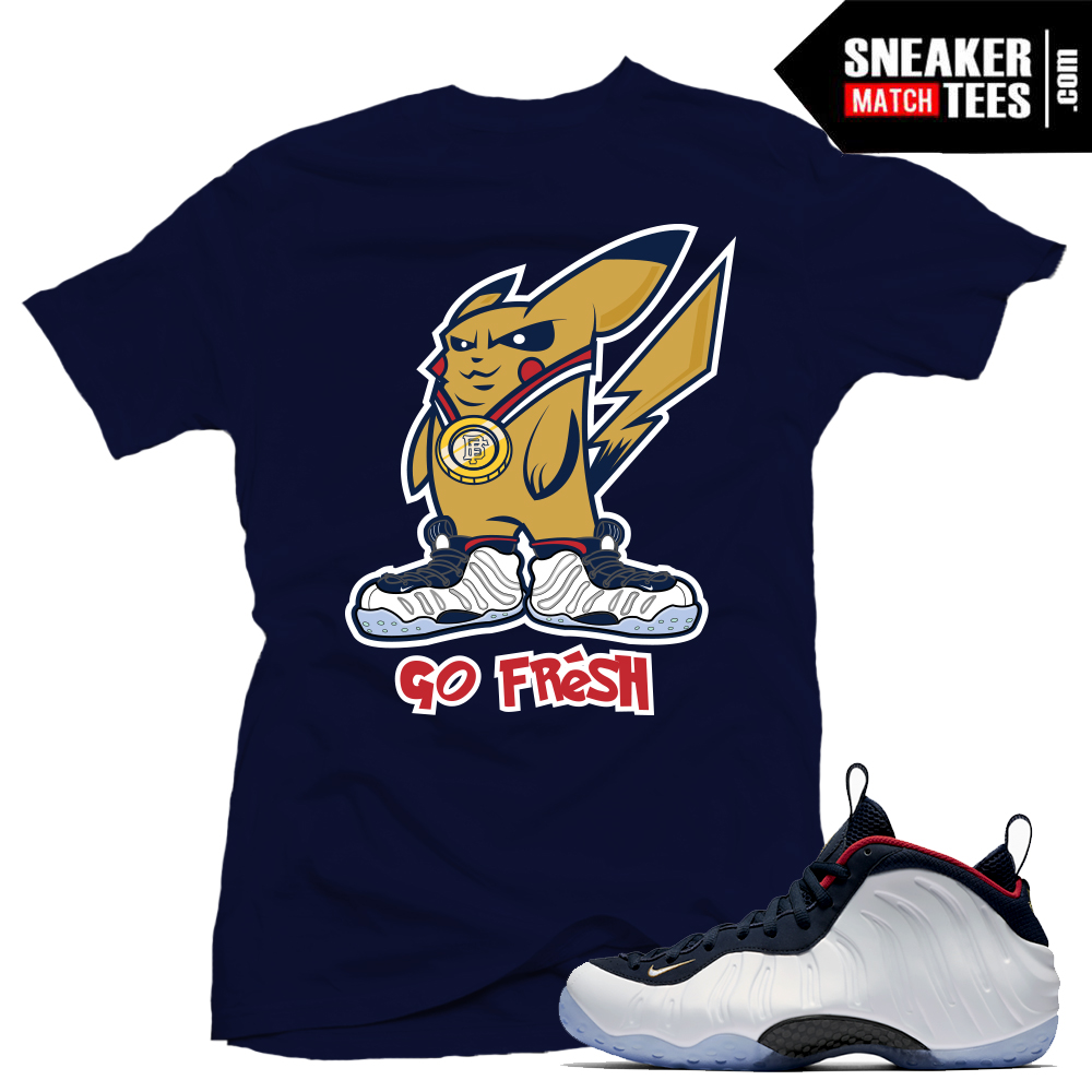 b8dda0a1 T shirt Pokemon Go Olympic Foams match | Sneaker Match Tees
