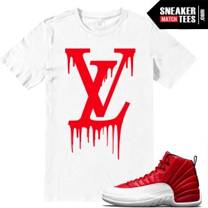 sneaker tee shirts match Gym Red 12s
