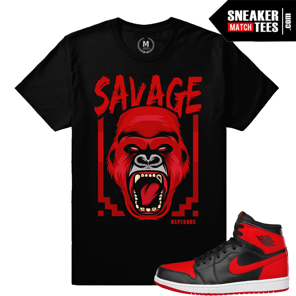 Banned 1 T shirt Match sneakers Bred 1s