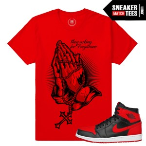 Banned 1s matching red sneaker tee shirt