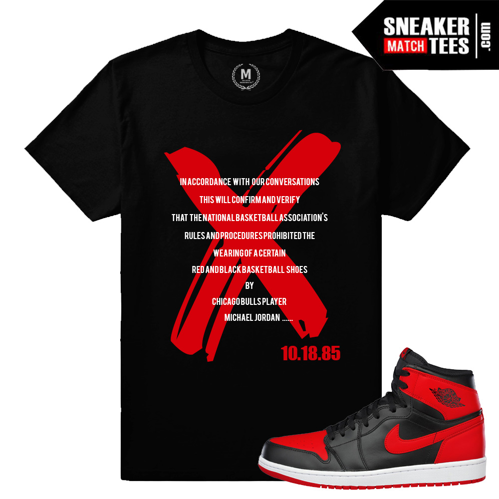 Banned 1s matching t shirt