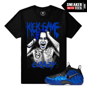 Cobalt Foamposite T shirt Match